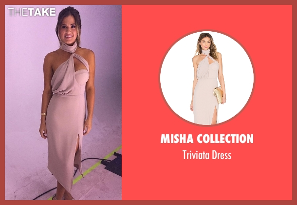 Misha Collection pink dress from The Bachelorette seen with JoJo Fletcher