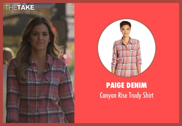Paige Denim pink shirt from The Bachelorette seen with JoJo Fletcher