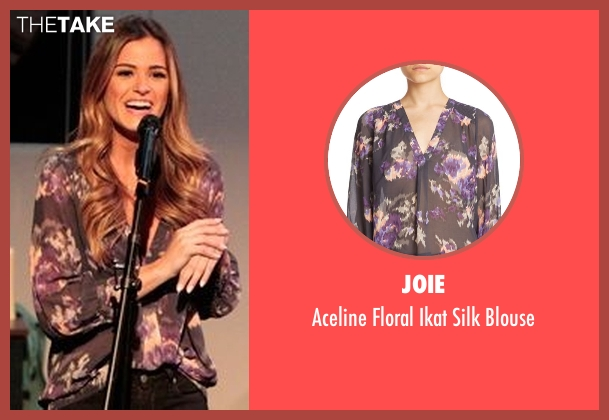 Joie purple blouse from The Bachelorette seen with JoJo Fletcher