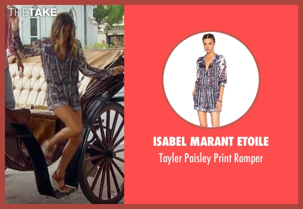Isabel Marant Etoile  purple romper from The Bachelorette seen with JoJo Fletcher