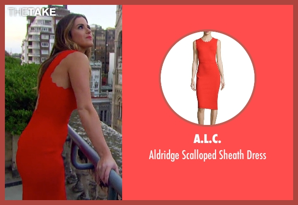 A.L.C. red dress from The Bachelorette seen with JoJo Fletcher