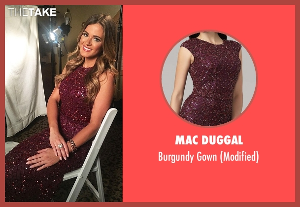 Mac Duggal red gown from The Bachelorette seen with JoJo Fletcher