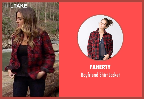 Faherty red jacket from The Bachelorette seen with JoJo Fletcher