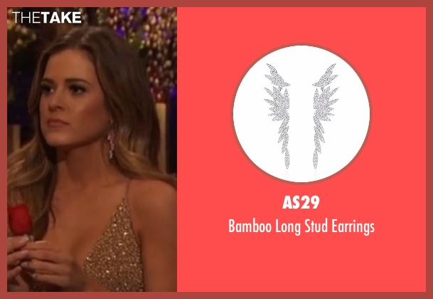 AS29 silver earrings from The Bachelorette seen with JoJo Fletcher
