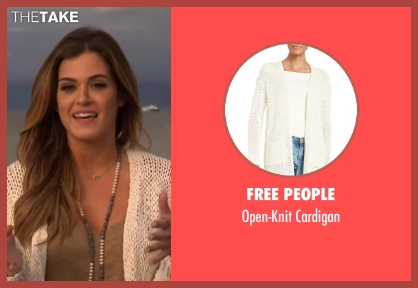 Free People white cardigan from The Bachelorette seen with JoJo Fletcher
