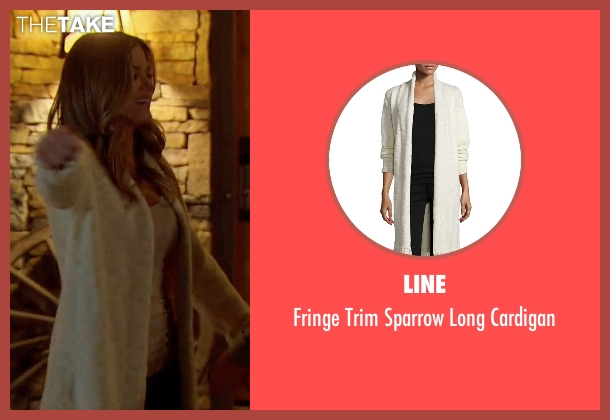 Line white cardigan from The Bachelorette seen with JoJo Fletcher