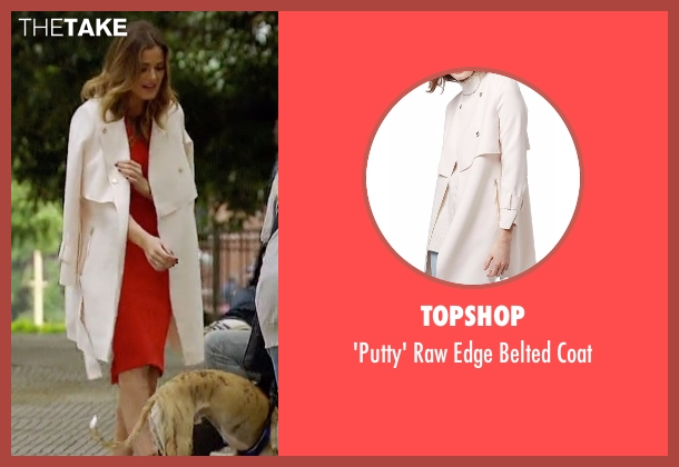 Topshop white coat from The Bachelorette seen with JoJo Fletcher