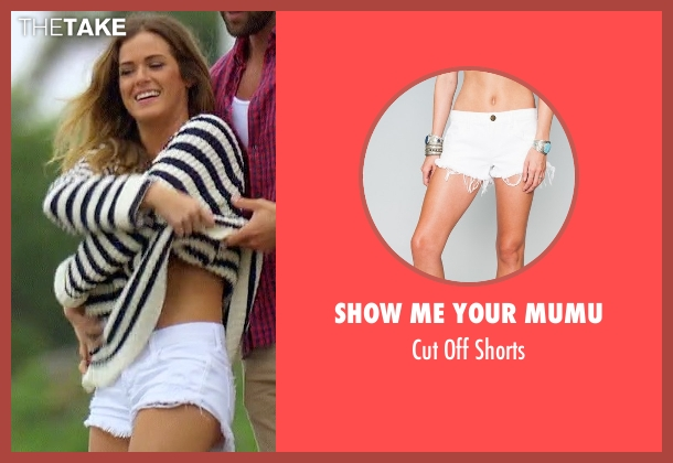 Show Me Your Mumu white shorts from The Bachelorette seen with JoJo Fletcher