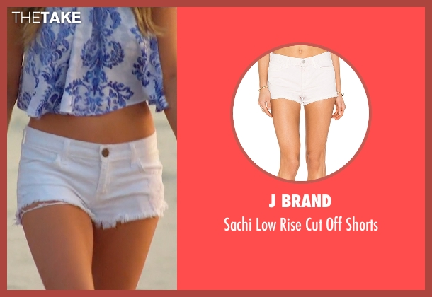 J Brand white shorts from The Bachelorette seen with JoJo Fletcher