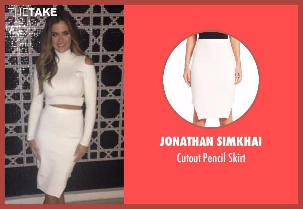 Jonathan Simkhai white skirt from The Bachelorette seen with JoJo Fletcher