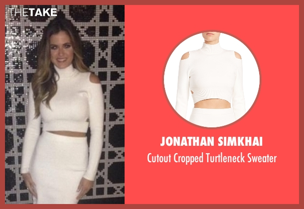 Jonathan Simkhai white sweater from The Bachelorette seen with JoJo Fletcher