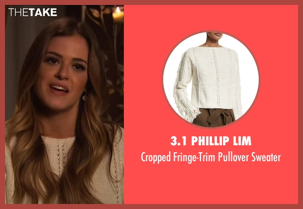 3.1 Phillip Lim white sweater from The Bachelorette seen with JoJo Fletcher