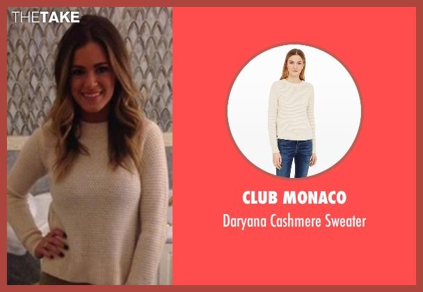 Club Monaco white sweater from The Bachelorette seen with JoJo Fletcher