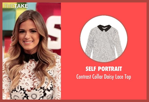 Self Portrait  white top from The Bachelorette seen with JoJo Fletcher