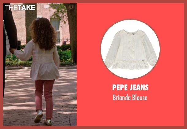 Pepe Jeans white blouse from The Intern seen with JoJo Kushner (Paige Ostin (as Josia Ruby Kushner))