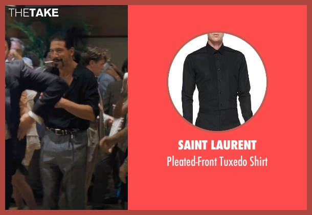 Saint Laurent black shirt from The Wolf of Wall Street seen with Jon Bernthal (Brad)