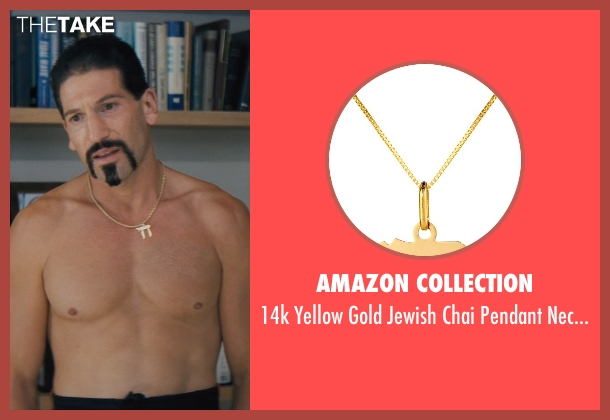 Amazon Collection gold necklace from The Wolf of Wall Street seen with Jon Bernthal (Brad)