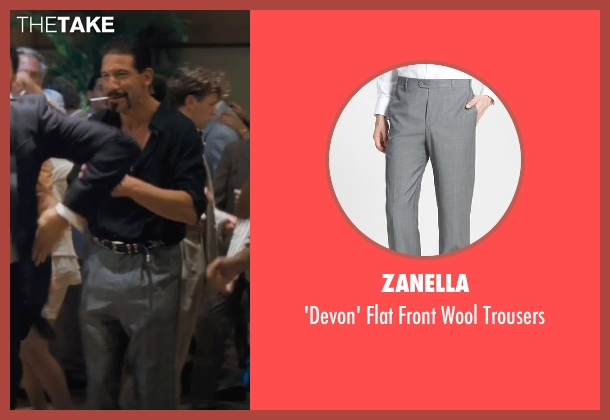 Zanella gray trousers from The Wolf of Wall Street seen with Jon Bernthal (Brad)