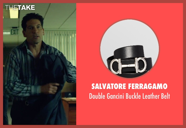 Salvatore Ferragamo black belt from We Are Your Friends seen with Jon Bernthal (Paige)