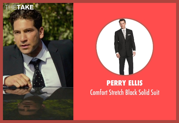 Perry Ellis black suit from We Are Your Friends seen with Jon Bernthal (Paige)