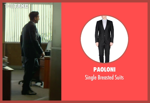 Paoloni black suits from We Are Your Friends seen with Jon Bernthal (Paige)