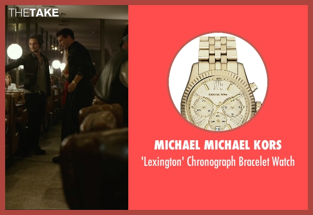Michael Michael Kors gold watch from We Are Your Friends seen with Jon Bernthal (Paige)