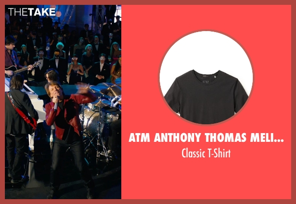 ATM Anthony Thomas Melillo black t-shirt from New Year's Eve seen with Jon Bon Jovi (Jensen)