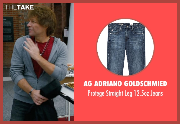 AG Adriano Goldschmied blue jeans from New Year's Eve seen with Jon Bon Jovi (Jensen)