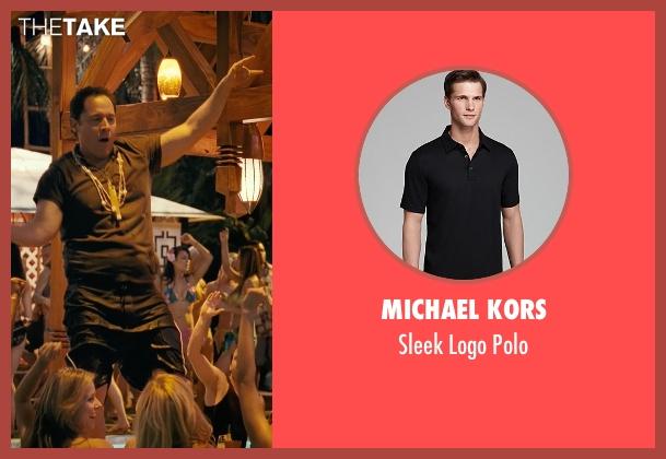 Michael Kors black polo from Couple's Retreat seen with Jon Favreau (Joey)