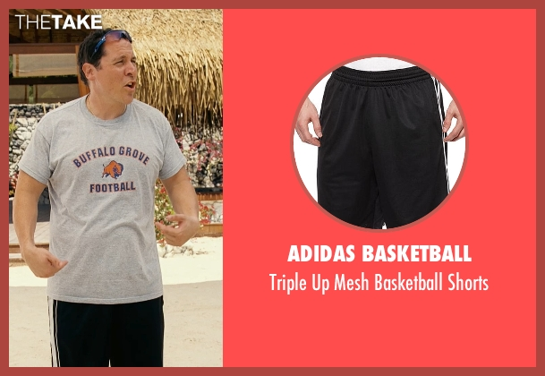 Adidas Basketball black shorts from Couple's Retreat seen with Jon Favreau (Joey)