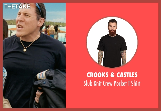 Crooks & Castles black t-shirt from Couple's Retreat seen with Jon Favreau (Joey)