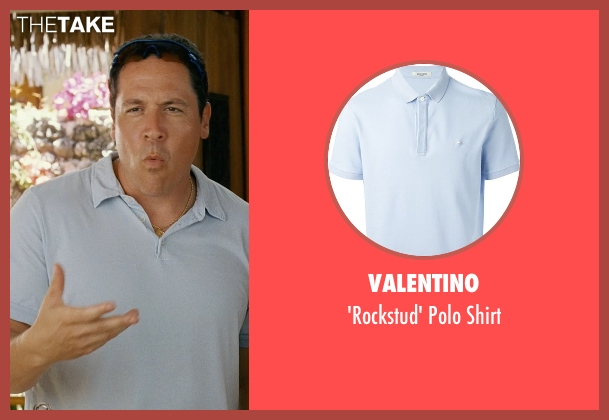 Valentino blue shirt from Couple's Retreat seen with Jon Favreau (Joey)