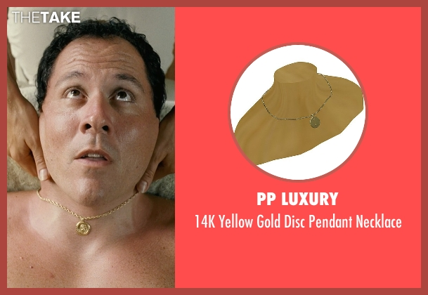 PP Luxury gold necklace from Couple's Retreat seen with Jon Favreau (Joey)