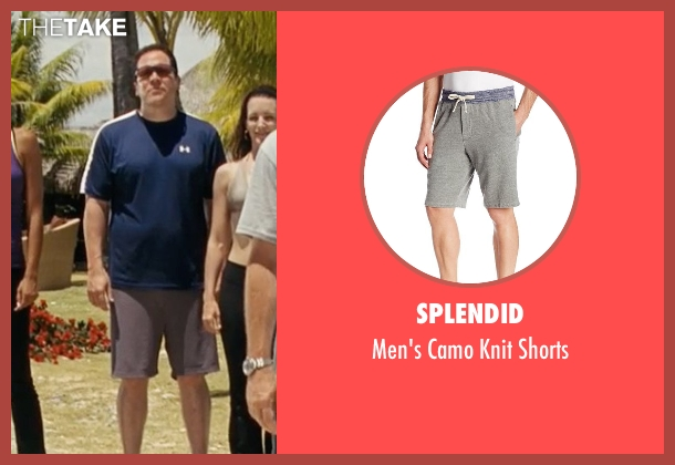 Splendid gray shorts from Couple's Retreat seen with Jon Favreau (Joey)