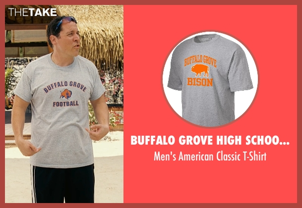 Buffalo Grove High School Bison gray t-shirt from Couple's Retreat seen with Jon Favreau (Joey)