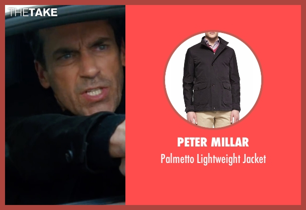 Peter Millar black jacket from Keeping Up with the Joneses seen with Jon Hamm (Tim Jones)