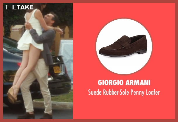Giorgio Armani  brown loafer from Keeping Up with the Joneses seen with Jon Hamm (Tim Jones)