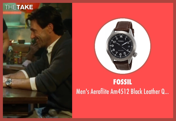 Fossil brown watch from Keeping Up with the Joneses seen with Jon Hamm (Tim Jones)