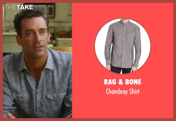 Rag & Bone gray shirt from Keeping Up with the Joneses seen with Jon Hamm (Tim Jones)