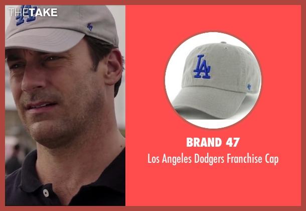 Brand 47 beige cap from Million Dollar Arm seen with Jon Hamm (J.B. Bernstein)