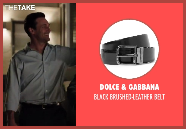 DOLCE & GABBANA black belt from Million Dollar Arm seen with Jon Hamm (J.B. Bernstein)