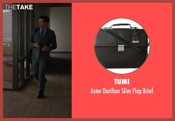 Tumi black brief from Million Dollar Arm seen with Jon Hamm (J.B. Bernstein)