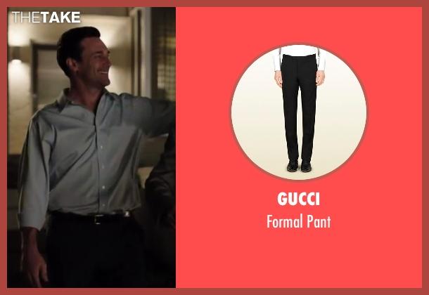 GUCCI black pant from Million Dollar Arm seen with Jon Hamm (J.B. Bernstein)