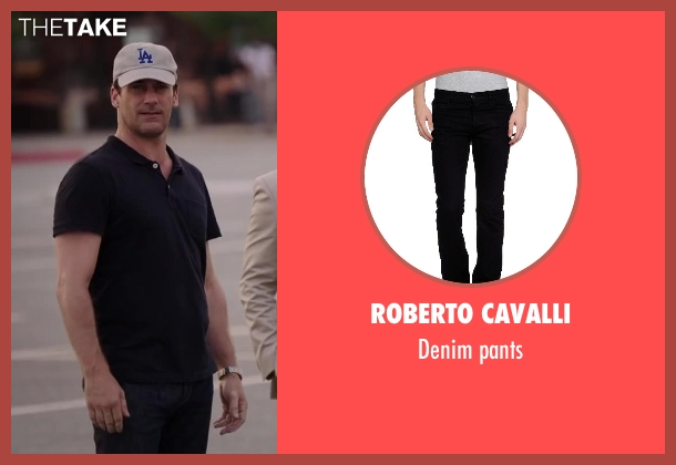 ROBERTO CAVALLI black pants from Million Dollar Arm seen with Jon Hamm (J.B. Bernstein)