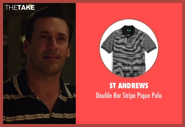 St Andrews black polo from Million Dollar Arm seen with Jon Hamm (J.B. Bernstein)
