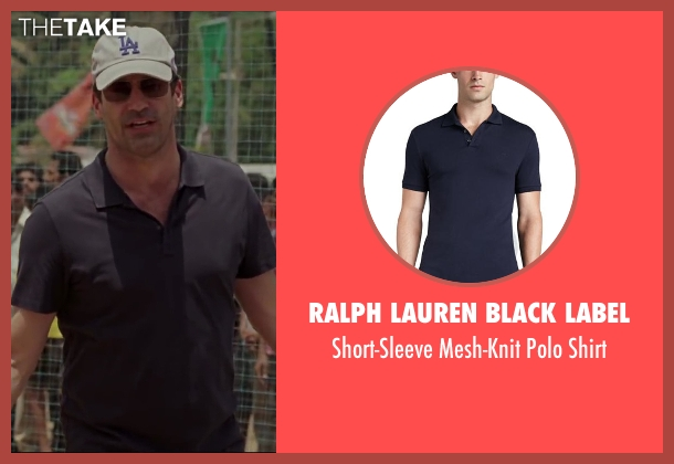 Ralph Lauren Black Label black shirt from Million Dollar Arm seen with Jon Hamm (J.B. Bernstein)