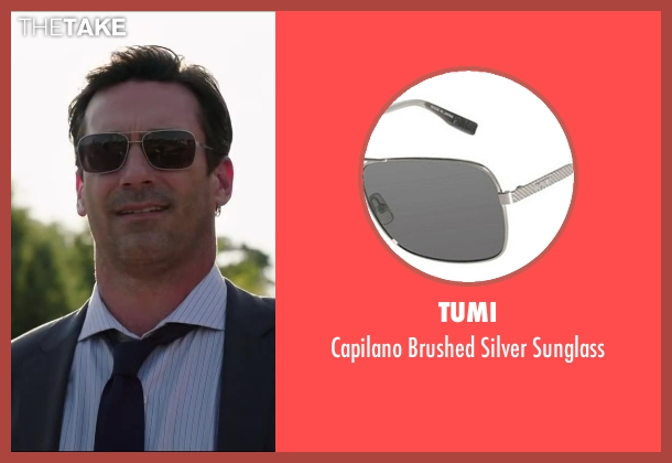 Tumi black sunglass from Million Dollar Arm seen with Jon Hamm (J.B. Bernstein)