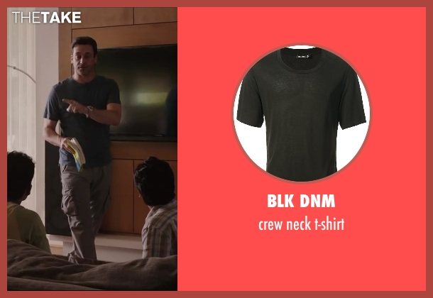 BLK DNM black t-shirt from Million Dollar Arm seen with Jon Hamm (J.B. Bernstein)