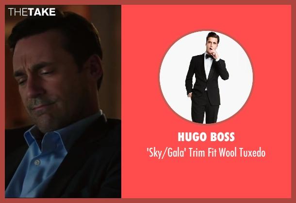 HUGO BOSS black tuxedo from Million Dollar Arm seen with Jon Hamm (J.B. Bernstein)