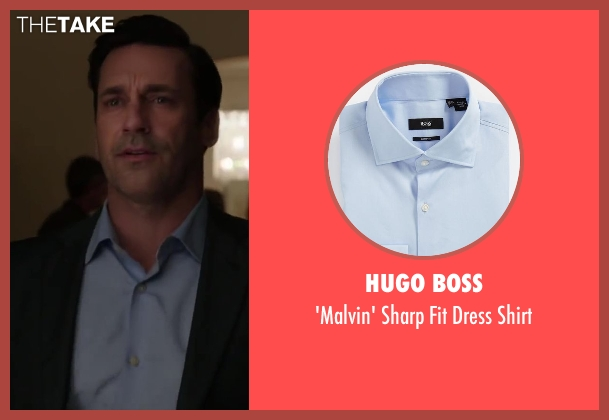 jon hamm hugo boss 39 malvin 39 sharp fit dress shirt from. Black Bedroom Furniture Sets. Home Design Ideas